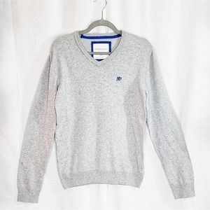 Aeropostale Gray V-neck Sweater Size M